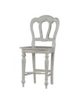 Provence Napoleon Counter Stool  Back Carving