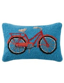 Red Bike Pillow 8x12