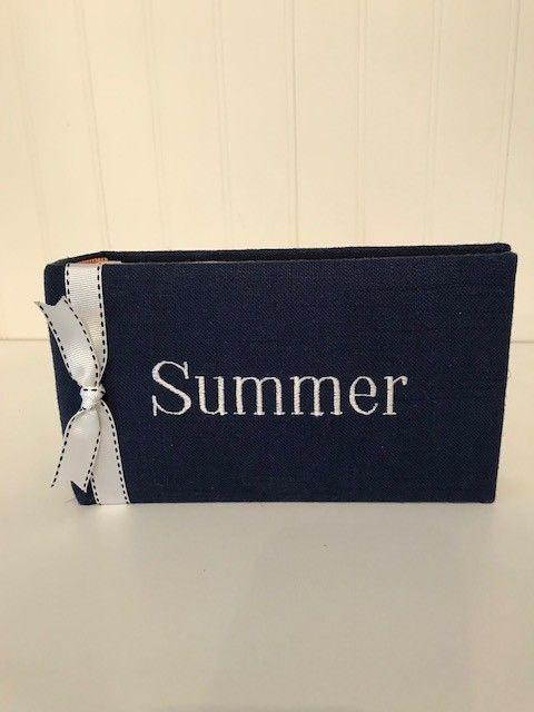 Summer Album Navy White