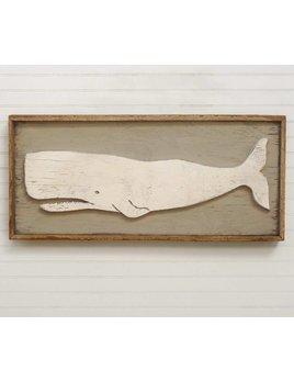 Folk Whale Framed