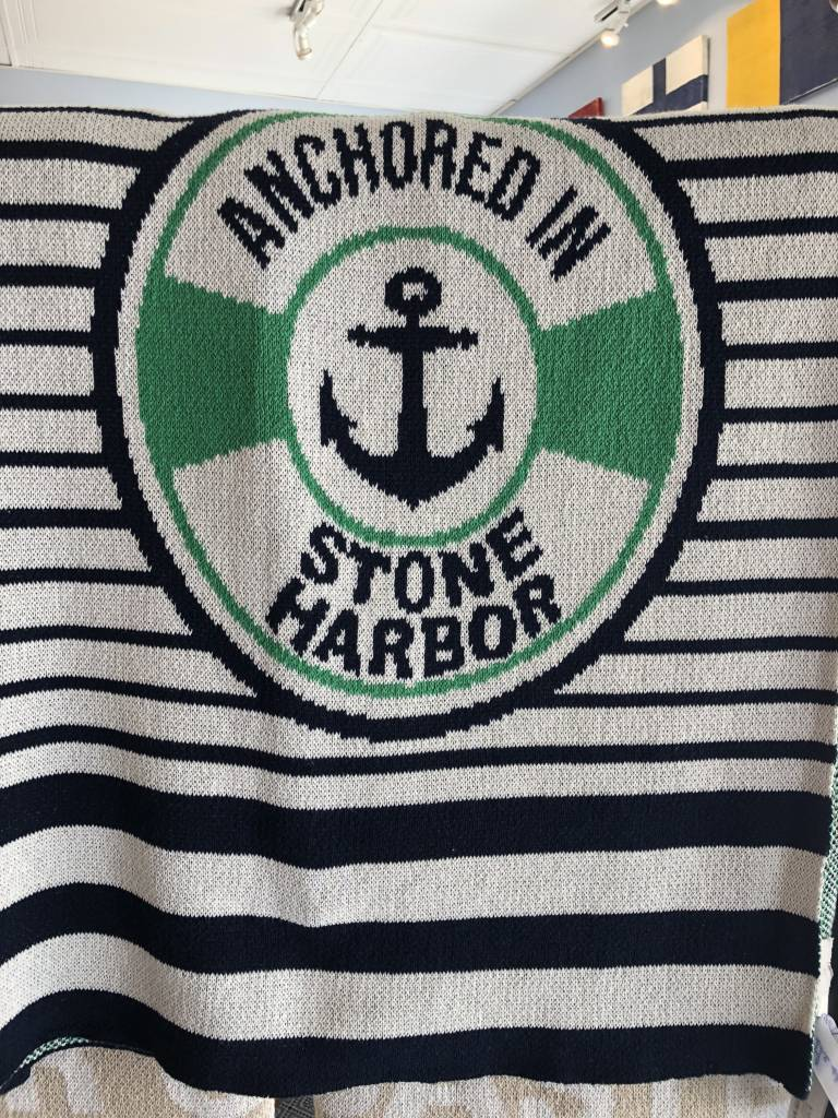 Anchored In Stone Harbor Throw