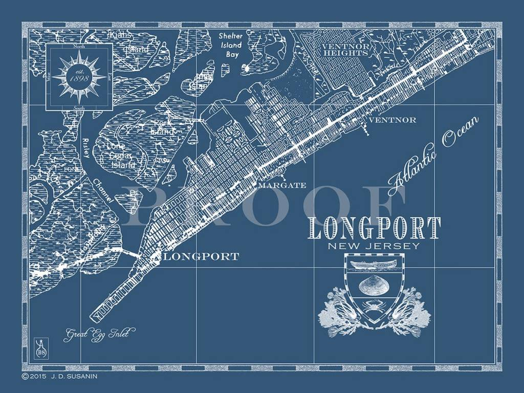 Large Map Longport 30x36