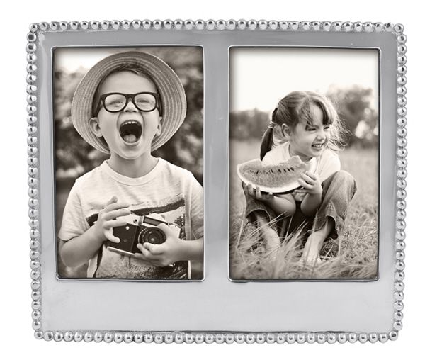 Personalize It  Beaded 2x3 Double Frame