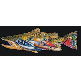 DeYoung DeYoung Fab Four – Trout Decal