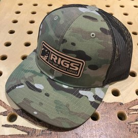 RIGS RIGS Leather Patch Trucker Hat - Multicam Original/Coyote Brown