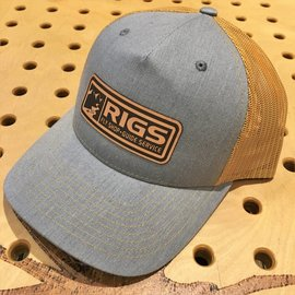 RIGS RIGS Leather Patch Trucker - Split HeatherGrey/Amber Gold