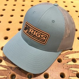 RIGS RIGS Leather Patch Trucker - Split Smoke Blue/Aluminum
