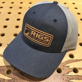 RIGS RIGS Leather Patch Trucker - Navy Heather/Light Grey