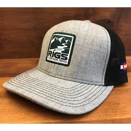 RIGS Ouray Zone Trucker RIGS Logo - Heather Grey/Black