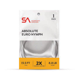 SA Absolute Euro Nymph Leader - 13.5' 2x