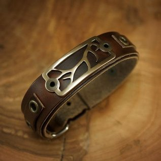 Sight Line Provisions Sight Line Lost Cast Leather Bracelet -