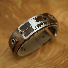 Sight Line Provisions Sight Line Leather Bracelet -