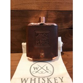 Whiskey Leather Works RIGS Logo'd  Whiskey Leather Works Clark Fork Flask -
