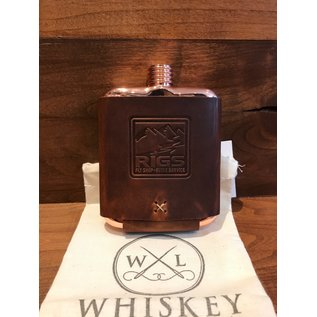 Whiskey Leather Works RIGS Logo Clark Fork Flask -