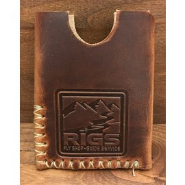 Whiskey Leather Works RIGS Logo'd Whiskey Leather Works Bitterroot Wallet -