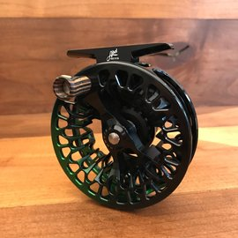 Abel Reels Abel VAYA 4/5 - Black Green Fade/ Zebra Wood Handle