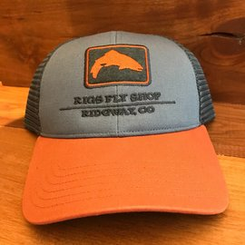 Simms Fishing RIGS Logo Trout Icon Trucker - Storm