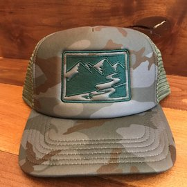 Simms Fishing RIGS Logo'd Foam Trucker Hat - Pico Camo Mineral