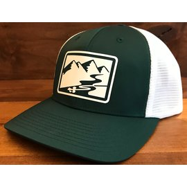 RIGS RIGS Silicon Transfer Logo 174 - Split Dark Green/White