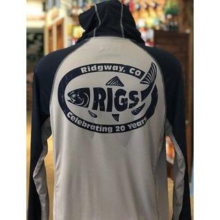 RIGS Simms RIGS Retro Fish Logo Bugstopper Solarflex Hoody -