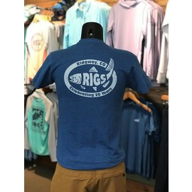 RIGS Throwback Logo Sueded Short Sleeve Crew Slim Fit-