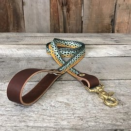 Whiskey Leather Works The Whiskey Dog Leash Brown Trout