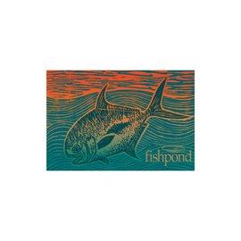 "Fishpond Fishpond Permit Paradise Sticker - 5"""