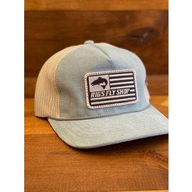 Richarson Hats RIGS Flag Logo 930 Troutdale - Light Blue/Sand