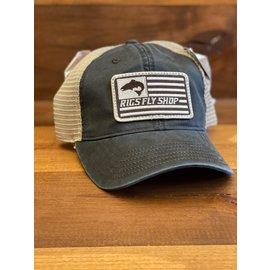 Richarson Hats RIGS Flag Logo 211 - Navy/Khaki ADJ