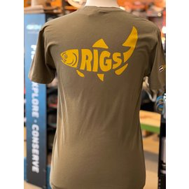 RIGS RIGS Logo'd Retro Fish Sueded S/S Tee -