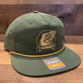 Sage Sage Captain's Hat - Heritage Trout Olive Green