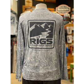 Patagonia RIGS Logo M's Long-Sleeved Cap Cool Daily Fish Graphic Shirt