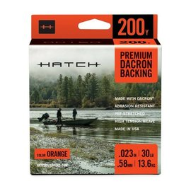Hatch Outdoors Hatch Premium Dacron Backing - Orange, 200 Yards, 30 lb.
