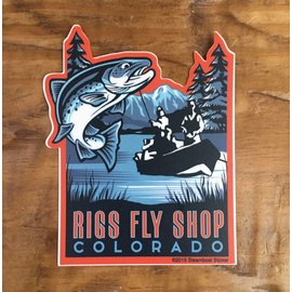 RIGS Drift Boat - RIGS Fly Shop Sticker