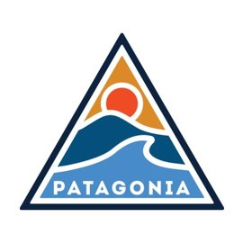 Patagonia Patagonia Rolling Through - Mountain & Wave Sticker