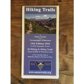 Hiking Trails of Ouray County & the Uncompahgre Wilderness  Map