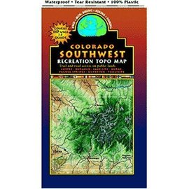 Southwest Colorado Trails Recreation TOPO Map