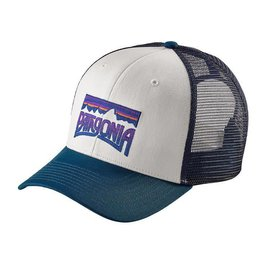 Patagonia Patagonia Fitz Roy Frostbite Mid Crown Trucker Hat - White