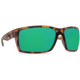 Costa Del Mar Costa Reefton Green Mirror - 580G - Matte Retro Tortoise Frame (L)