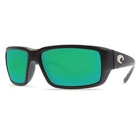 Costa Del Mar Costa Fantail Green Mirror - 580G - Matte Black Omni Fit Frame (M)