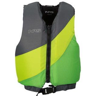 NRS Crew Youth PFD - Green/Gray