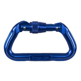 NRS, Inc. NRS Omega Standard Locking D Carabiner - Blue