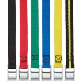 NRS Color Coded Tie-Down Strap - 2' - Black