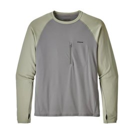 Patagonia Patagonia Men's Sunshade Crew - RIGS Logo - Feather Grey/Desert Sage