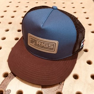 RIGS RIGS Custom 5 Panel Flat Brim Mesh Hat - Indigo/Copper
