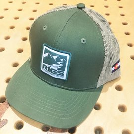 RIGS RIGS Logo Heavy Duty Trucker Hat - Green/Tan