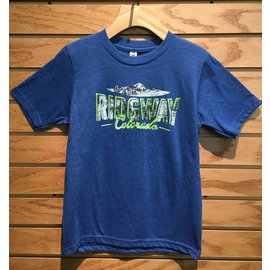 Ridgway Colorado Youth Vintage Sheer Tee - Royal
