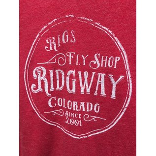 RIGS RIGS Fly Shop Women's Tri Blend Deep V Short Sleeve Tee - Vintage Red