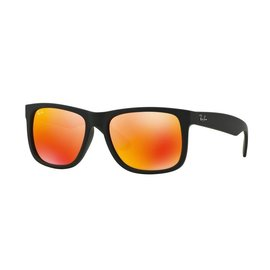 Ray-Ban Ray-Ban - JUSTIN (622/6Q) - Rubber Black w/ Orange Mirror