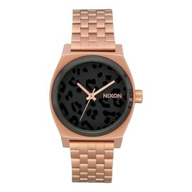 Nixon Nixon - TIME TELLER (Medium) - All Rose Gold/Blk Cheetah